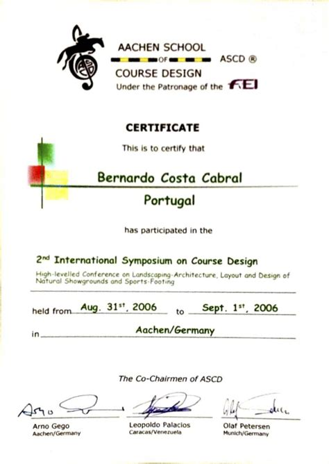 certificate design for symposium certificates bernardo costa cabral