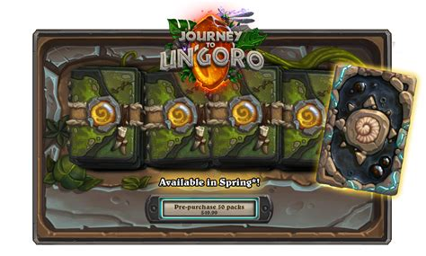 Can You Gift Card Packs In Hearthstone - hearthstone s next expansion journey to un goro arrives early april
