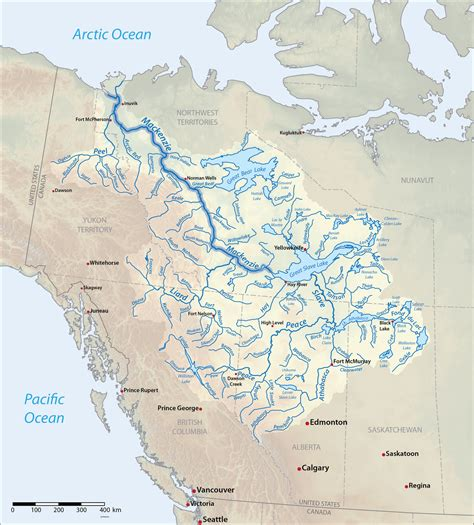 canadian lakes and rivers map list of longest rivers of canada wikipedia