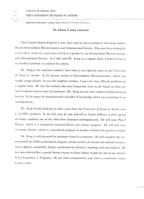 Gift Professor Letter Of Recommendation 13 Letters Of Recommendation From Professors