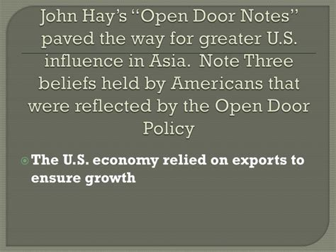 Which Statement About The Open Door Notes Is True by Ppt What Was Its Relationship To The U S Powerpoint