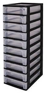 tours de rangement dix tiroirs tour de rangement noir
