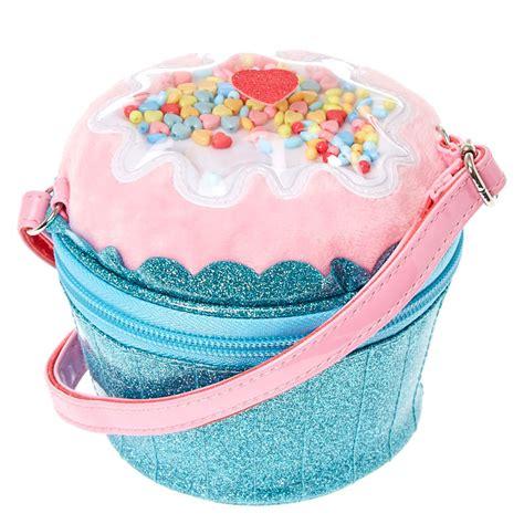 blue glitter cupcake crossbody bag s us