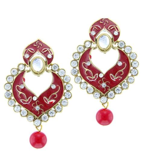 pink earrings celebrity tradisyon bollywood celebrity inspired majestic pink crown