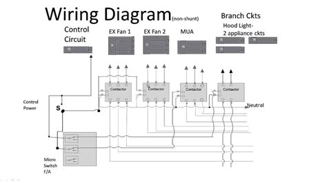 Kitchen Exhaust Wiring Diagram Kitchen Non Shunt Trip