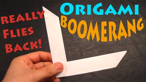 How To Make Origami Boomerang - how to make an origami boomerang rob s world viyoutube