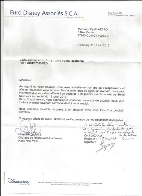 disneyland courrier de r 233 ponse de cyril lazaro 224