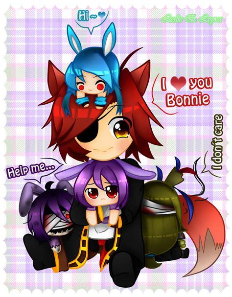 imagenes de fnaf kawaii anime fnaf chibi fonnie by candlehead99 on deviantart