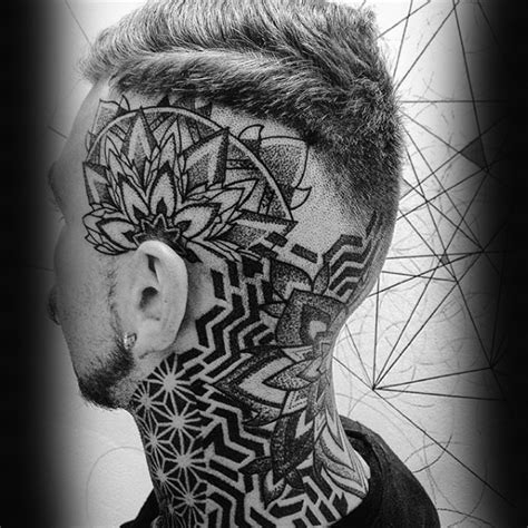 pattern head tattoo 100 head tattoos for men masculine ink design ideas