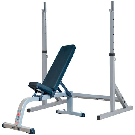 standing incline bench hart squat stand combo flat incline bench benches racks