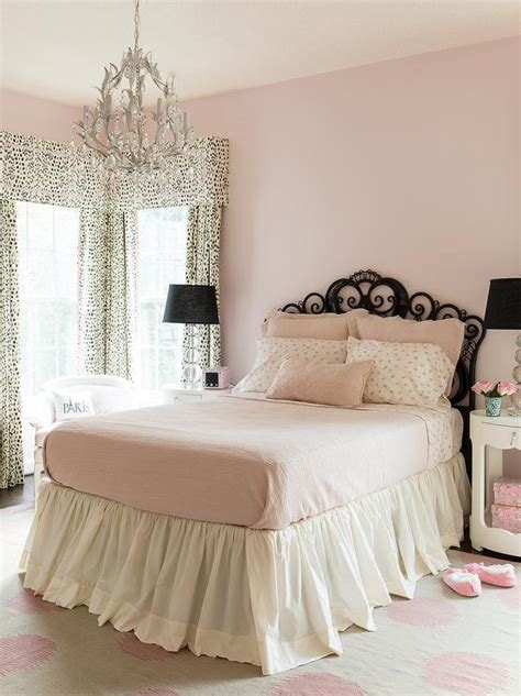 pale pink bedrooms pink and black girls bedroom transitional girl s room