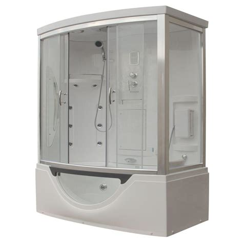bathtub shower kits steam planet hudson plus 72 in x 39 in x 88 in steam