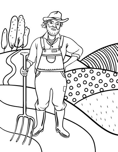 farmer coloring pages pin by muse printables on coloring pages at coloringcafe