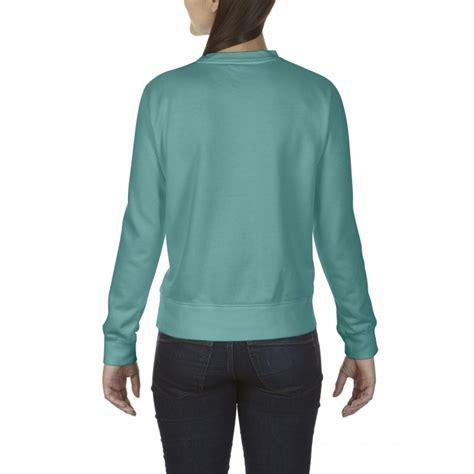 seafoam comfort colors cc1596 comfort colors crewneck sweatshirt seafoam
