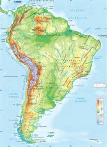 stock photos of physical map of south america