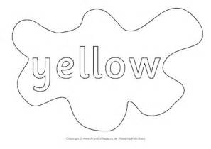 coloring pages for yellow yellow colouring page splats