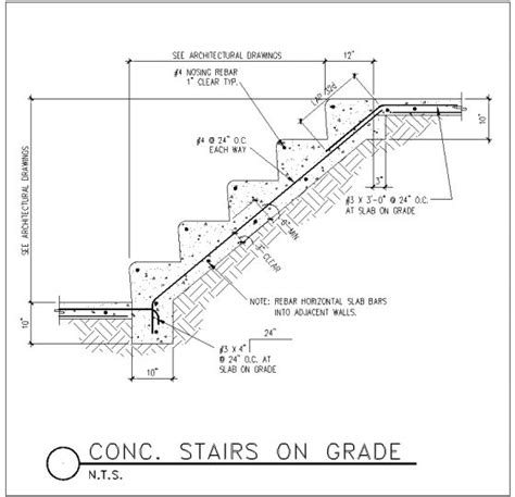 stair section detail dwg concrete stair detail stairs pinned by www modlar com