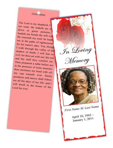 memorial bookmarks templates funeral program templates memorial bookmark