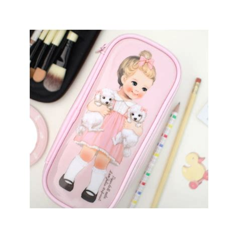 Doll Mate Cosmetic Pouch paper doll mate make up slim pouch kawaii panda
