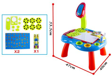 Drawing Board Magnetic Letter And Number 2in1 deao 3 in 1 children projector colouring and learning