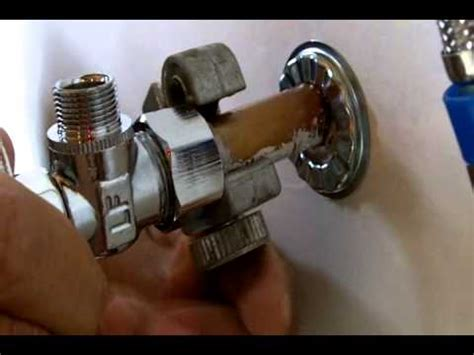 bathroom sink shut off valve how to install a water shut off valve for beginners