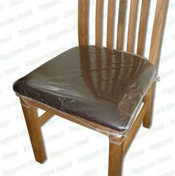 Protective Seat Covers For Dining Chairs Strong Dining Chair Protectors Clear Plastic Cushion Seat Covers Protection Ebay
