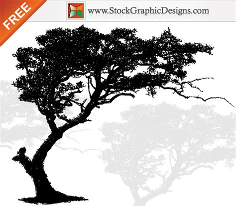 vector art tree silhouette   vector art