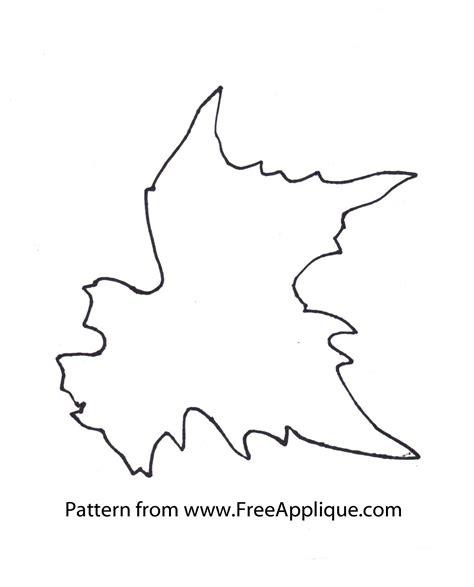 printable leaves pattern printable leaf patterns for applique quilting crafts or
