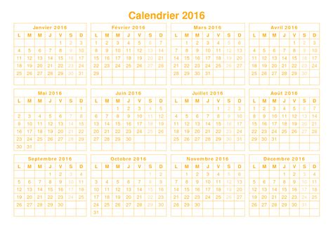 printable calendar 2016 french download imprimable 2016 calendrier in french printable