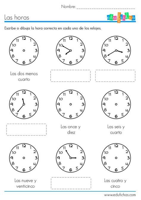 generador de ejercicios para aprender la hora y leer el reloj las 25 mejores ideas sobre actividades con decir la hora