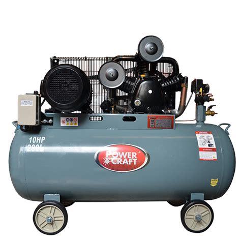 powercraft air compressor 10 hp horizontal copper motor dual voltage 3 phase pac100280v2s