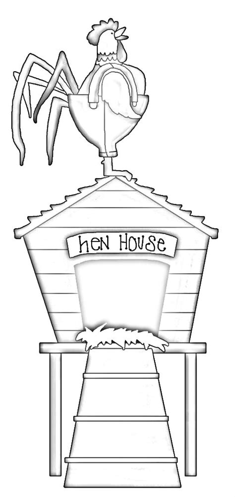 chicken nest coloring page hen house coloring pages