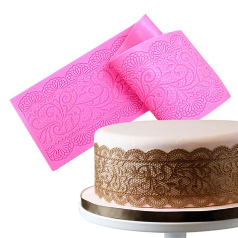 Silicone Mat For Fondant by Silicone Cake Lace Mats Mold Fondant Cake Decorating Tools
