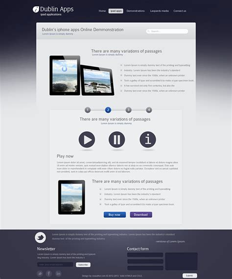 create templates for pages ipad professional premium website design template for ipad a on