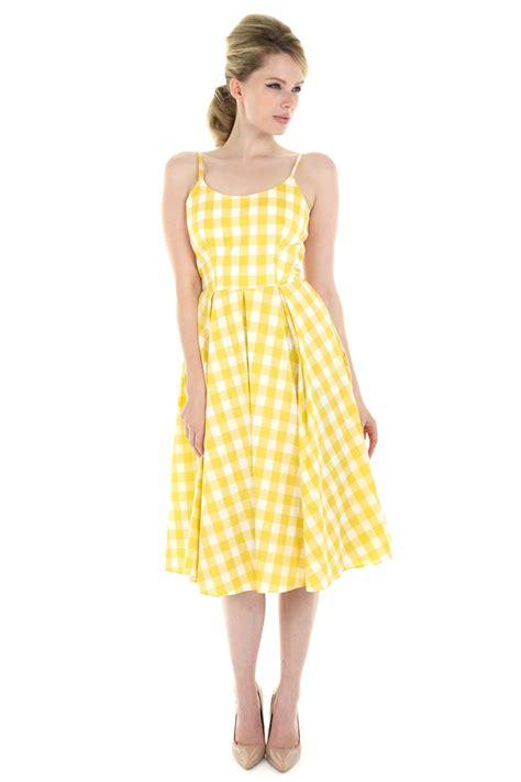 Pretty Dresses by The Pretty Dress Company Priscilla Gingham Midi Dress