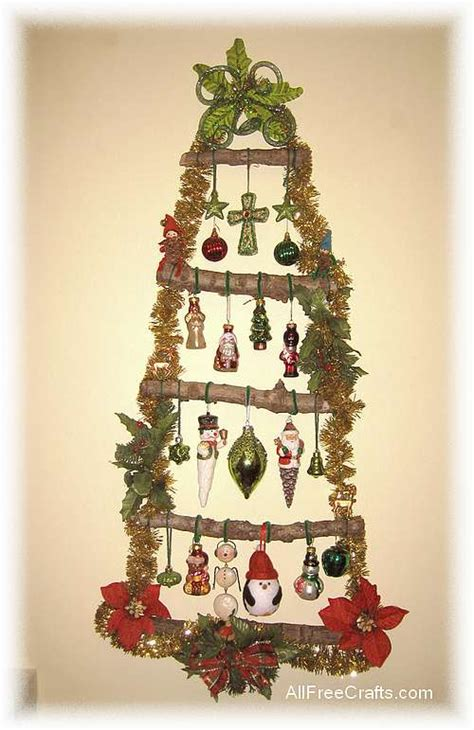 homemade christmas wall tree