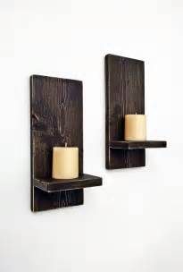Decorative Wall Sconce Shelves Rustic Wall Sconces Pair Wood Wall Candle By Blueridgesawdust