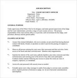 12 security officer job description templates free