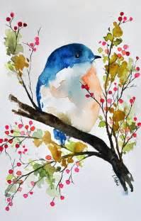 25 best ideas about watercolor bird on pinterest