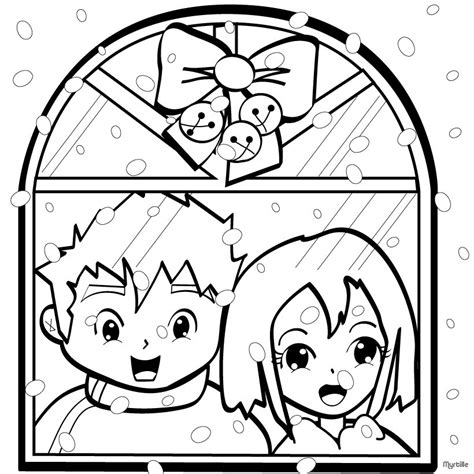 winter village coloring page snowflakes on christmas eve coloring pages hellokids com