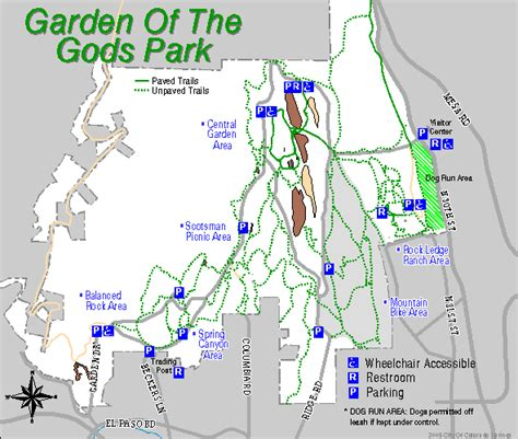Garden Of On Map Garden Of The Gods General Map