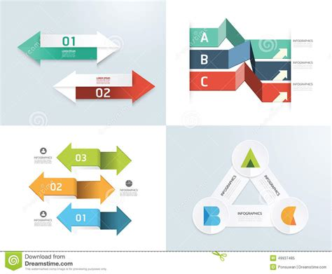 modern design elements modern design elements infographic template set stock