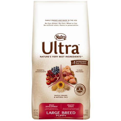 nutro large breed puppy food nutro ultra large breed puppy food 4 5 lb
