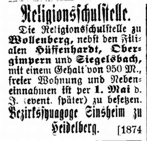 Bewerbung Landratsamt Heidelberg Die Synagoge In Obergimpern Stadt Bad Rappenau