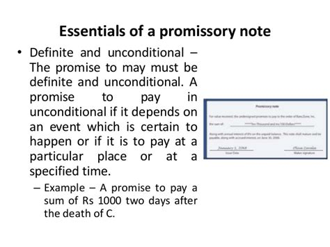 legal promise to pay document promissory note template