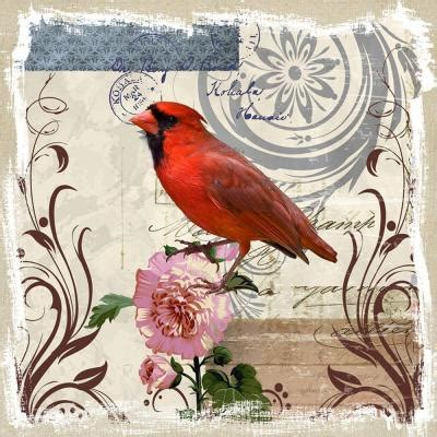 cardinal home decor yosemite home decor 20 in x 20 in quot red cardinal on linen
