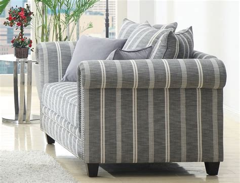 striped sofas living room furniture gray striped sofa grey striped fabric love seat with