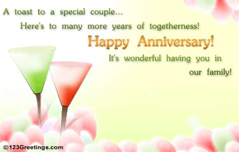 123 greetings wedding anniversary cards anniversary toast free family wishes ecards greeting