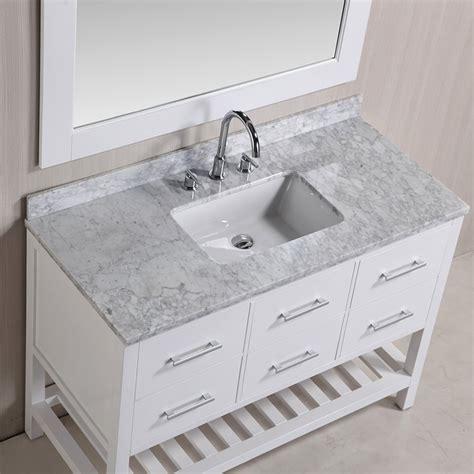 design element bathroom vanities design element 48 quot london single sink bathroom vanity w