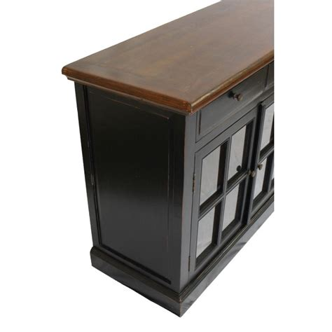 glass door sideboard black sideboard 4 glass doors sd 003